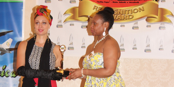 image for article Auresia Receives an Award at the Canadian Reggae Xclusive Awards last Sunday