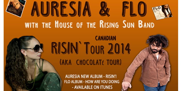 image for article AURESIA & FLO KICK-OFF CHOCOLATE (RISIN'!) CANADIAN TOUR 2014~!!!